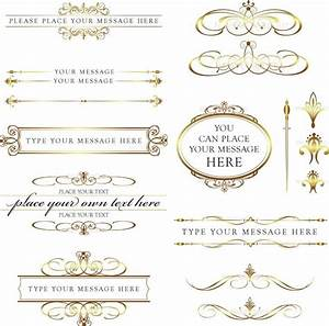 word clip art wedding embellishments calligraphy vintage With wedding invitations gold font
