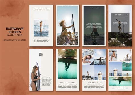 instagram stories layout pack telecharger psd gratuitement