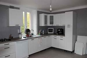 beautiful carrelage gris mur cuisine ideas ridgewayng With carrelage mur cuisine moderne