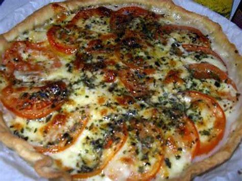 recette de tarte a la mozarella et tomate