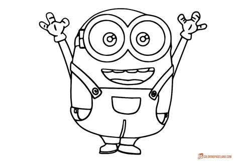 Coloring Templates Printable by Minion Coloring Pages For Free Printable Templates