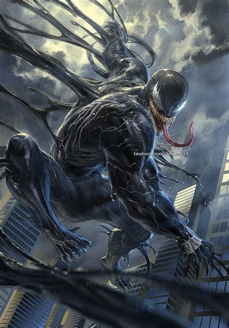 venom art  theknott venom comics marvel boesewichte