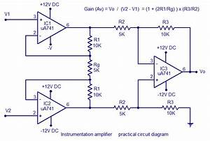 Instrumentation Amplifier Using Opamp Circuit Diagram