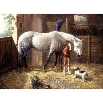malen nach zahlen pferd mit fohlen im stall  cm