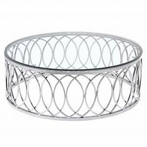10 ideas of all round glass and metal coffee table With round glass top coffee table with metal base