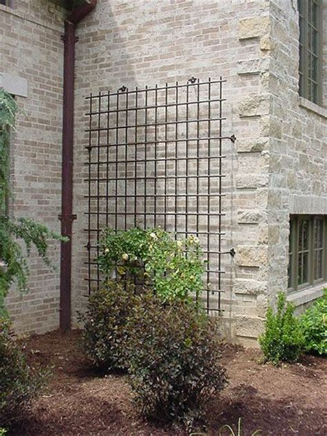 Ornamental Garden Trellis by Large Scale Decorative Iron Trellis For A House Wall