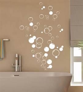 Diy wall art bathroom : Bubbles bathroom vinyl wall stickers shower door