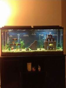 Mario Fish Tank  The Turtle Is So Cute