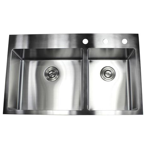 dual mount stainless steel kitchen sink 36 inch top mount drop in stainless steel 60 40 9628