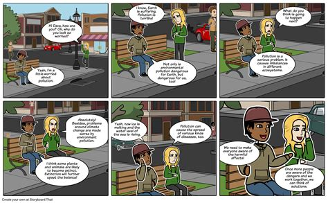 dialogue   friends  environmental pollution