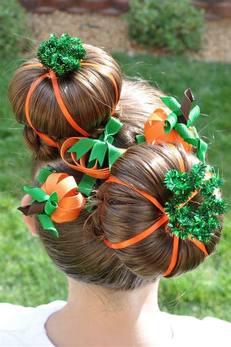 Princess Piggies Halloween Hairdos Pumpkin Patch