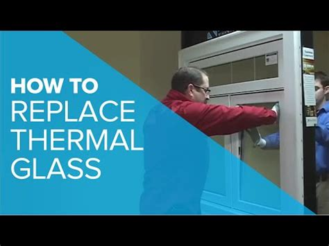 replacing thermal glass youtube