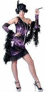 Purple Black Jazzy Adult Flapper Costume