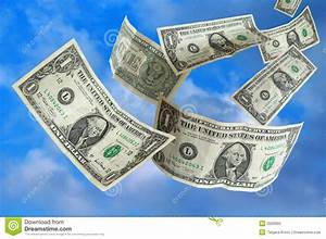 Money Falling From Sky Stock Photography - Image: 2503992