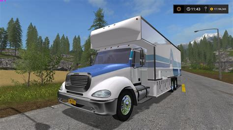 freightliner moving van fs farming simulator   mod