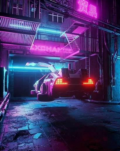 Vaporwave Delorean Cyberpunk Instagram Future Aesthetic Why