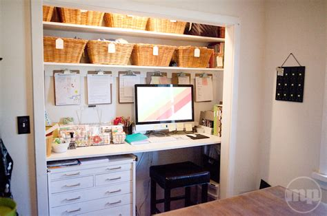 desk in a closet 15 closets turned into space saving office nooks