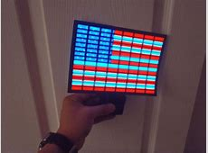 SOUND Activated AMERICAN FLAG CAR WINDOW STICKER SIGN WITH