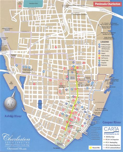 map  downtown charleston