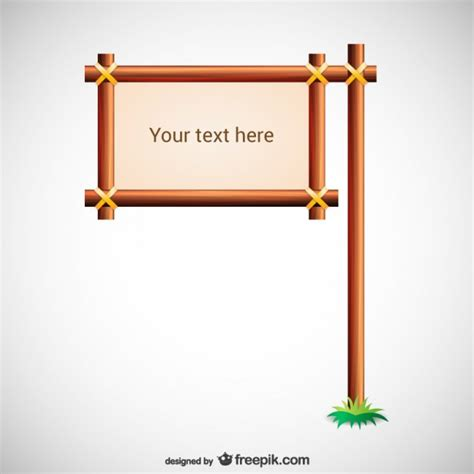 wood sign templates wooden sign template vector free