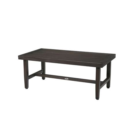 hton bay woodbury metal outdoor patio coffee table