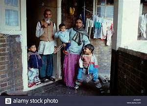 Asian family in poor quality short life housing Kings ...