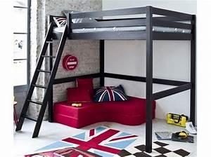 Lit Mezzanine Double : lit mezzanine les 3suisses 329 reflechir ~ Premium-room.com Idées de Décoration