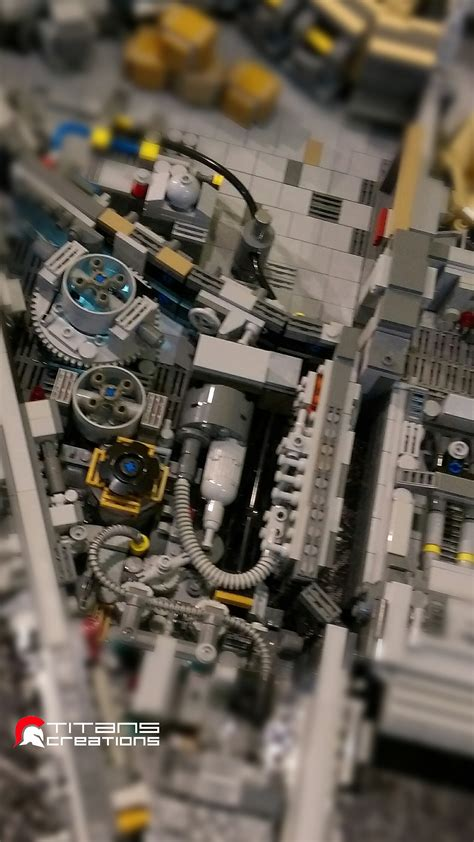 piece lego millennium falcon recreates  ships