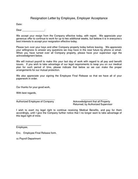 accept offer letter resignation acceptance letter format letter format 2017