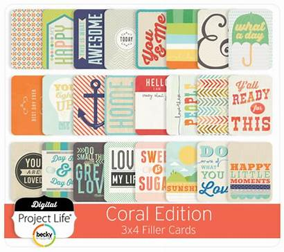 Cards Coral Edition Filler 3x4 Project Digital