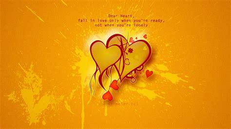 Love Message Fall In Love Wallpaper