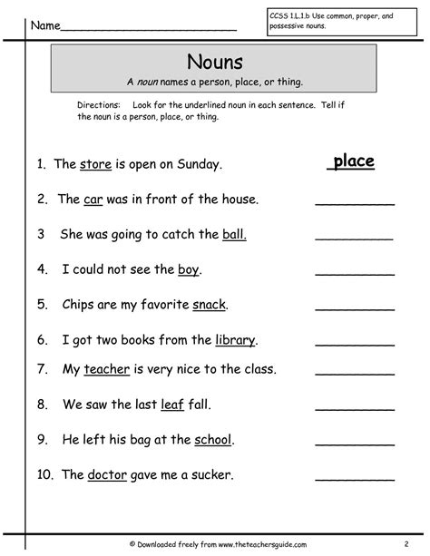 nouns grade 1 worksheets search kelina