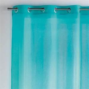 Voilage Bleu Turquoise : voilage 140 x h240 cm paloma turquoise voilage eminza ~ Teatrodelosmanantiales.com Idées de Décoration
