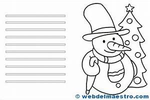 Tarjetas De Navidad Para Colorear Web Del Maestro
