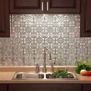 fasade 24 in x 18 in traditional 1 pvc decorative With backsplash tile home depot 2