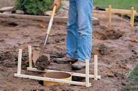 dig deck footings tools tips  home depot canada