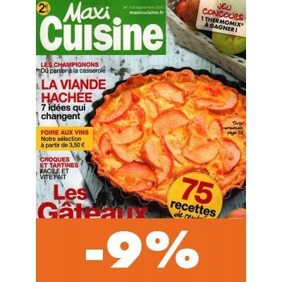maxi cuisine abonnement abonnement maxi cuisine pas cher mag24 discount