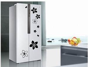 1sets on the refrigerator refrigerator door with With kitchen cabinets lowes with professional sticker making machine