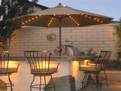 outdoor umbrella lights patio cover lighting ideas idea
