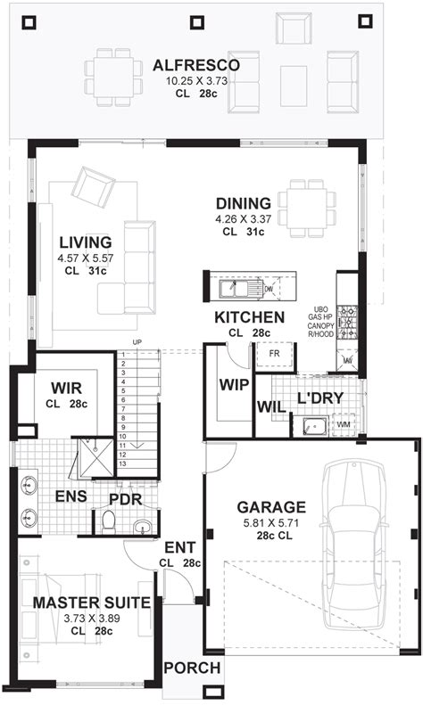 House And Floor Plans by 4 Bedroom 2 Storey House Plans Designs Perth