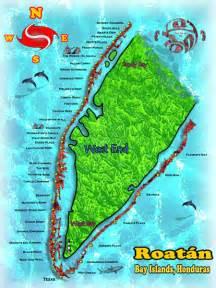 Roatan Honduras West Bay Beach Map