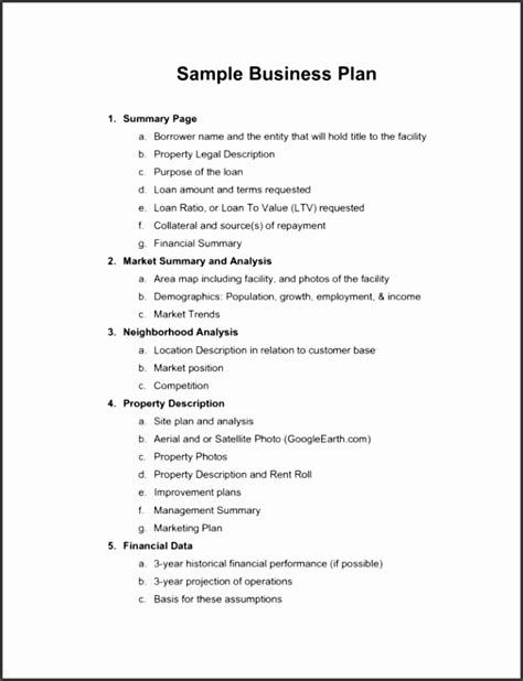 Basic Business Plan Template by 5 Business Plan Template Australia Sletemplatess