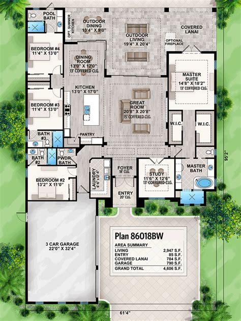 striking florida house plan bw architectural