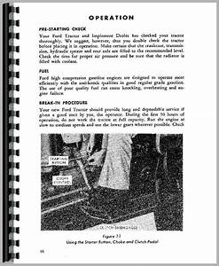 Ford 861 Tractor Operators Manual