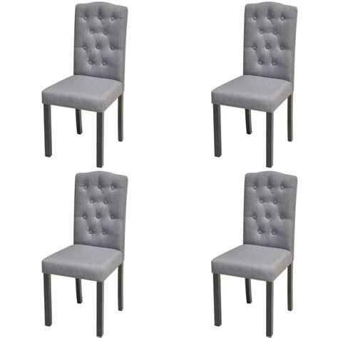 tissu pour chaise 4 chaises en tissu d 39 ameublement pour salle à manger gris