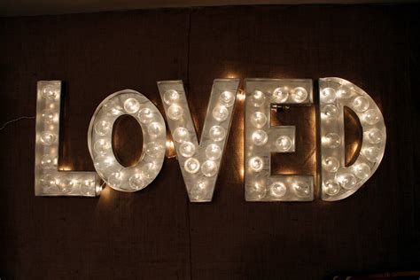 diy marquee letters making life beautiful