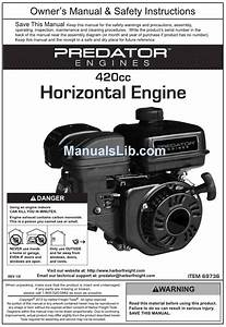 Predator Engines 420cc Owner U0026 39 S Manual  U0026 Safety