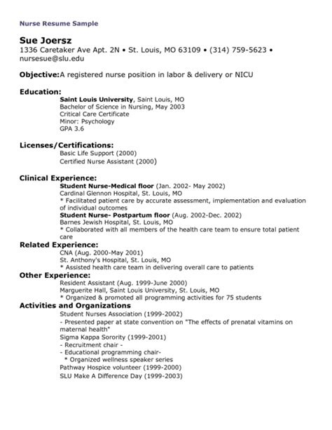 labor and delivery rn resume sles of resumes