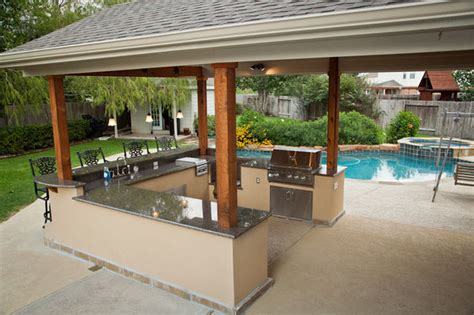 outdoor kitchen island covers outdoor kitchen and patio cover in katy tx traditional 3857