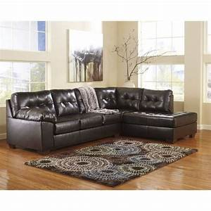 Ashley furniture alliston 2 piece leather sectional sofa for Small sectional sofa ashley furniture
